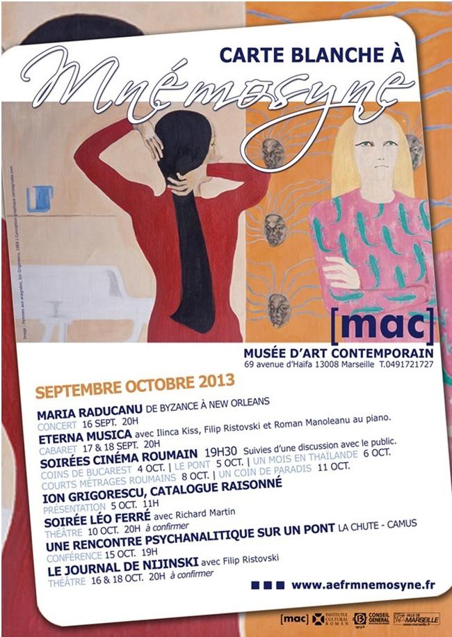 Carte blanche à Mnémosyne – artă românească la Marsilia