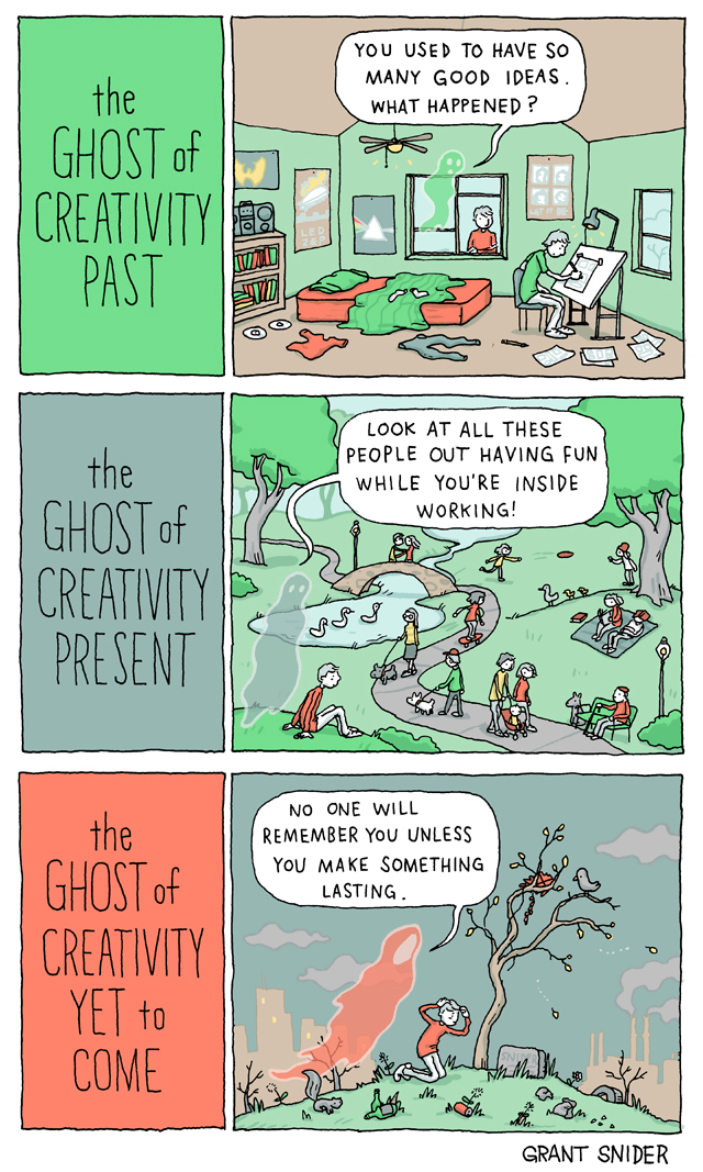 The Ghosts of Creativity, A Webcomic Parody of Charles Dickens' 'A Christmas Carol'