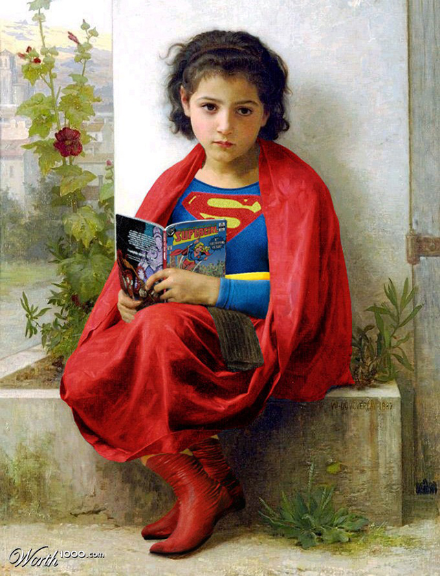 Classic Paintings Recreated With Modern Comic Book Superheroes