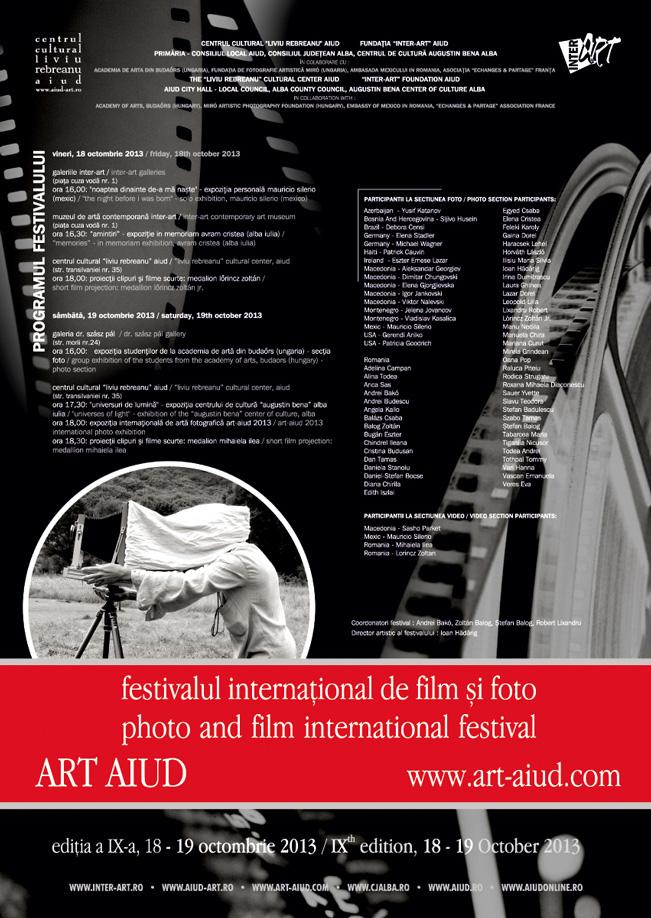 Festivalul internaţional de foto și film ART AIUD, ediția a IX-a