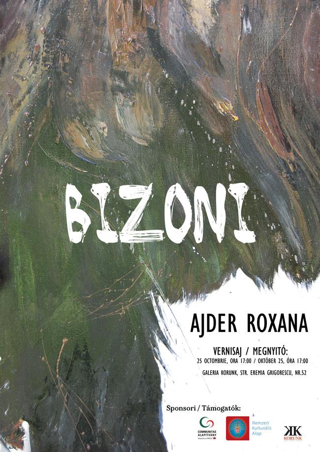 """""""Bizoni"""", expoziţie de pictură – Roxana Ajder, Galeria Korunk, Cluj-Napoca"""
