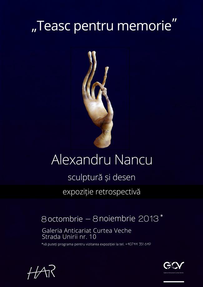 "Alexandru Nancu, ""Teasc pentru memorie"" @ Galeria Anticariat Curtea Veche, București"