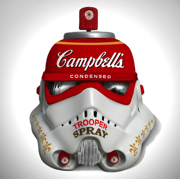 Art Wars, Famous Artists Redesign 'Star Wars' Stormtrooper Helmets @  Saatchi Gallery
