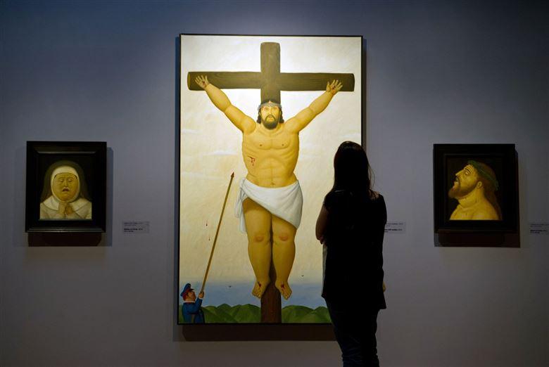 "Fernando Botero, ""Via Crucis, the passion of Christ"" in Cali, department of Valle del Cauca, Colombia"