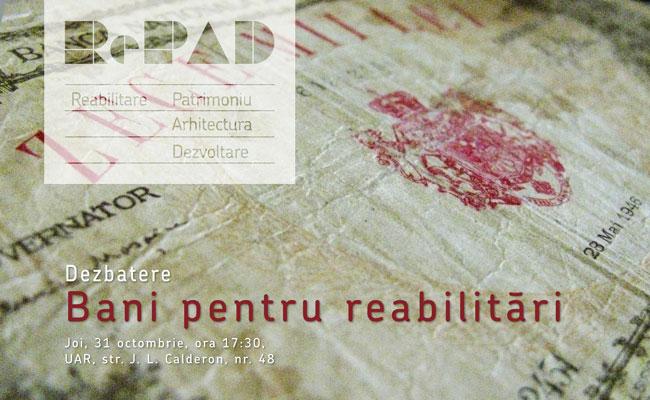 """Ghidul RePAD – Dezbatere """"Bani pentru reabilitări"""""""