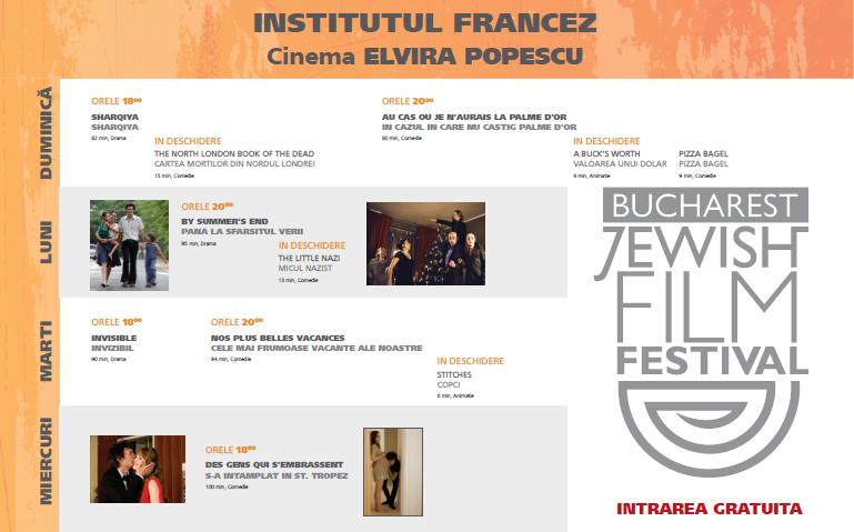 Începe cea de-a treia ediție a Festivalului de Film Evreiesc – București 2013!