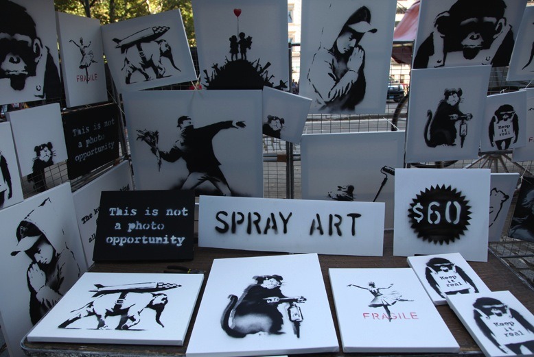 Banksy Has Unannounced Art Sale with Genuine Signed Canvases in Central Park, Sells Almost Nothing