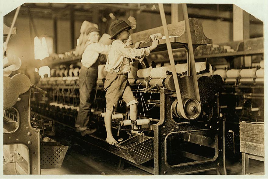 Pictures of Child Labour In USA by Lewis Hine