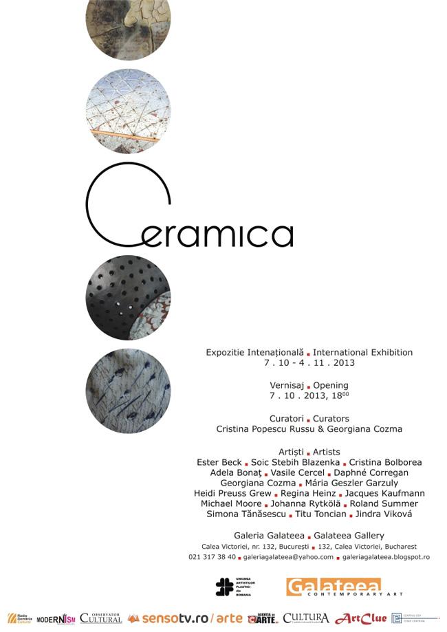 """Expoziţia internaţională """"Ceramica"""" @ Galeria Galateea, Bucureşti"""