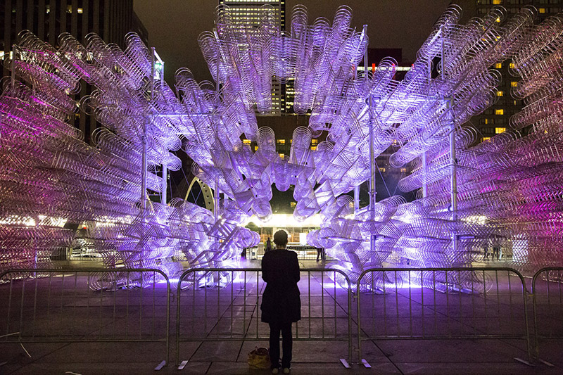 Ai Weiwei's Forever Bicycles Reconfigured in Toronto using 3,144 Bikes