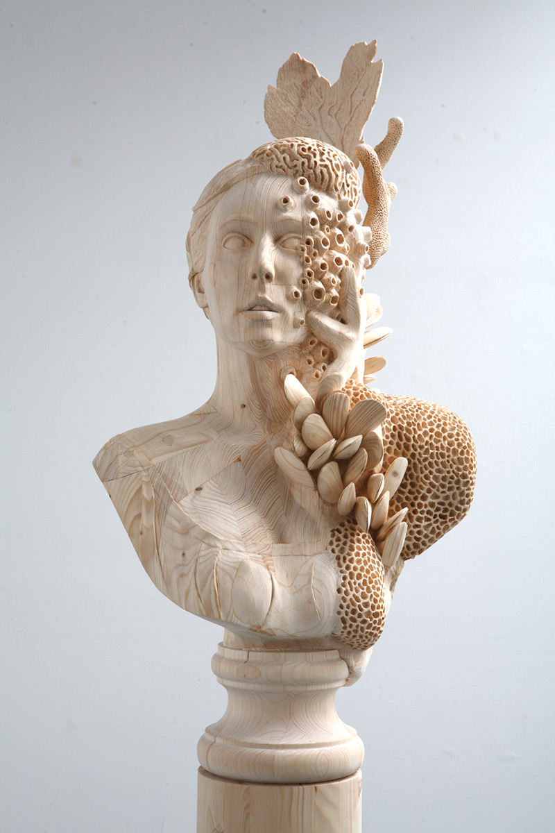 Incredible Hand-Carved Wood Sculptures of Surreal Figures
