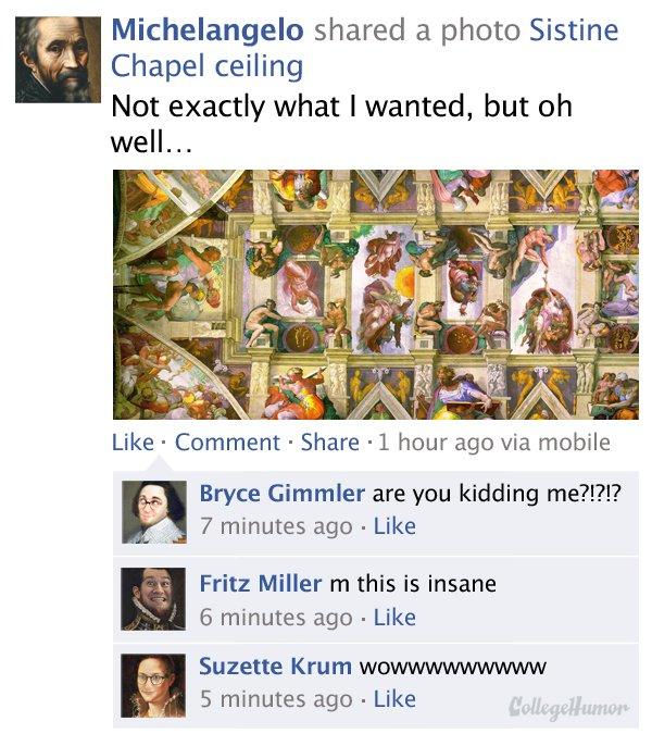 Historical Figures Humblebrag on Facebook