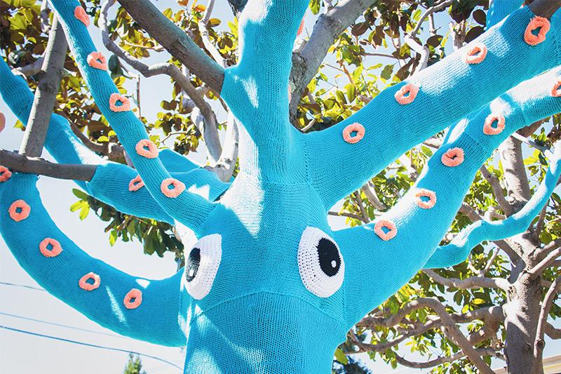 Yarnbomb Squid Tree