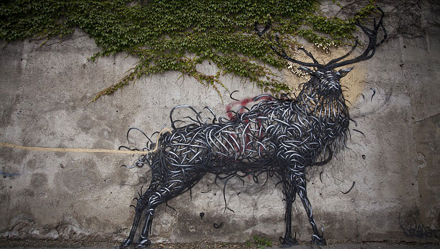Beautifully Detailed Street Art by Traveling Chinese Artist DALeast