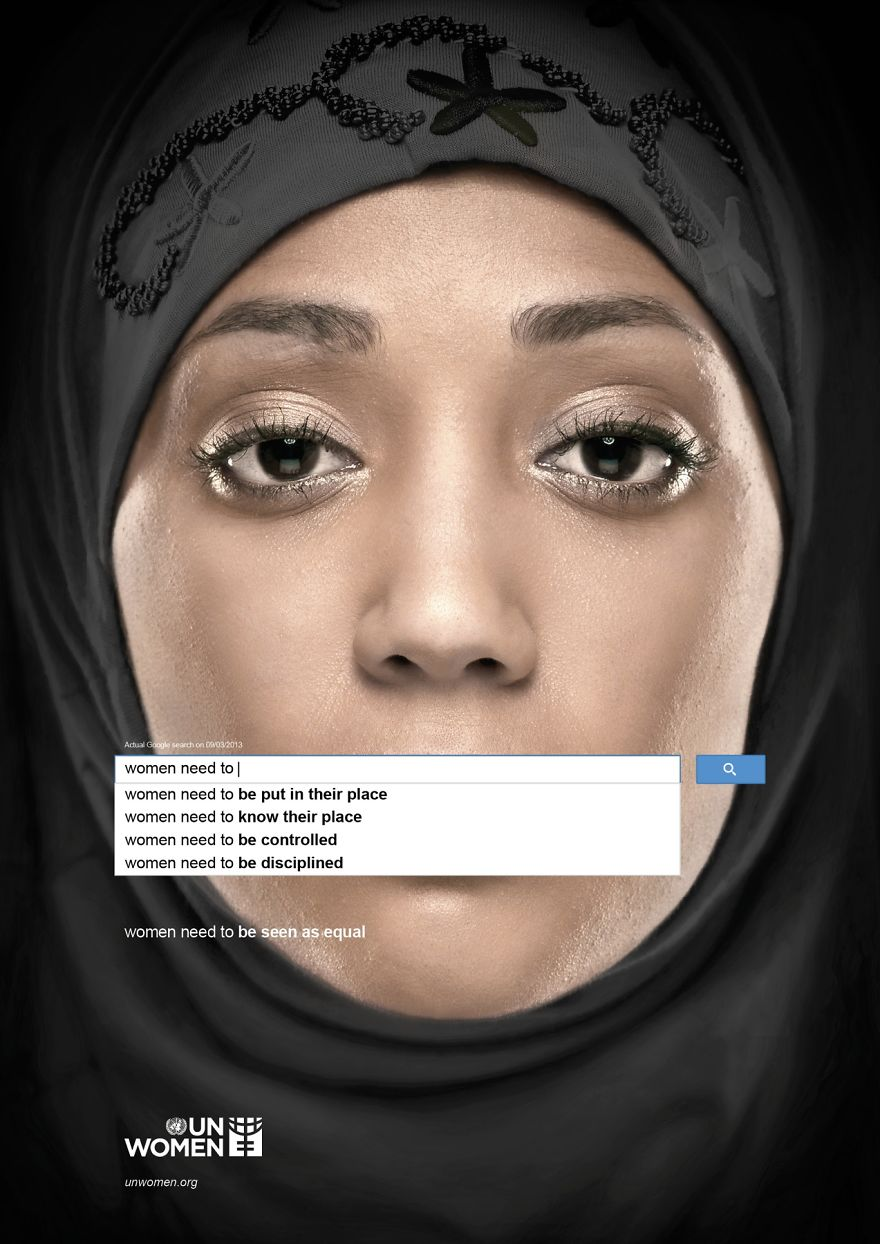 Powerful UN Ad Campaign Uses Google Suggestions To Show What The Internet Thinks About Women