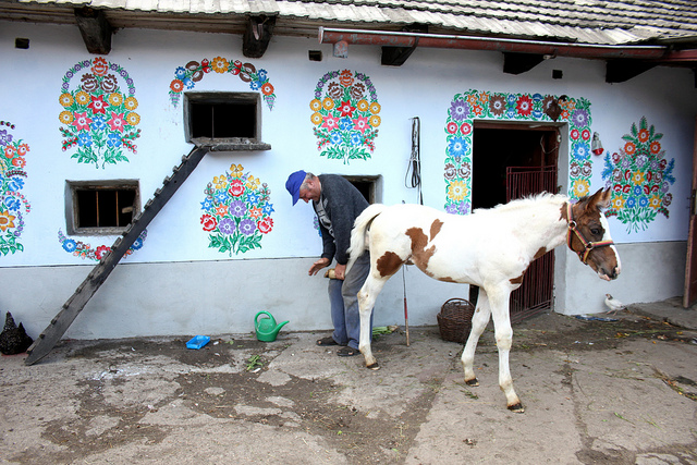 The Colorfully Decorated Homes of the Polish Village of Zalipie