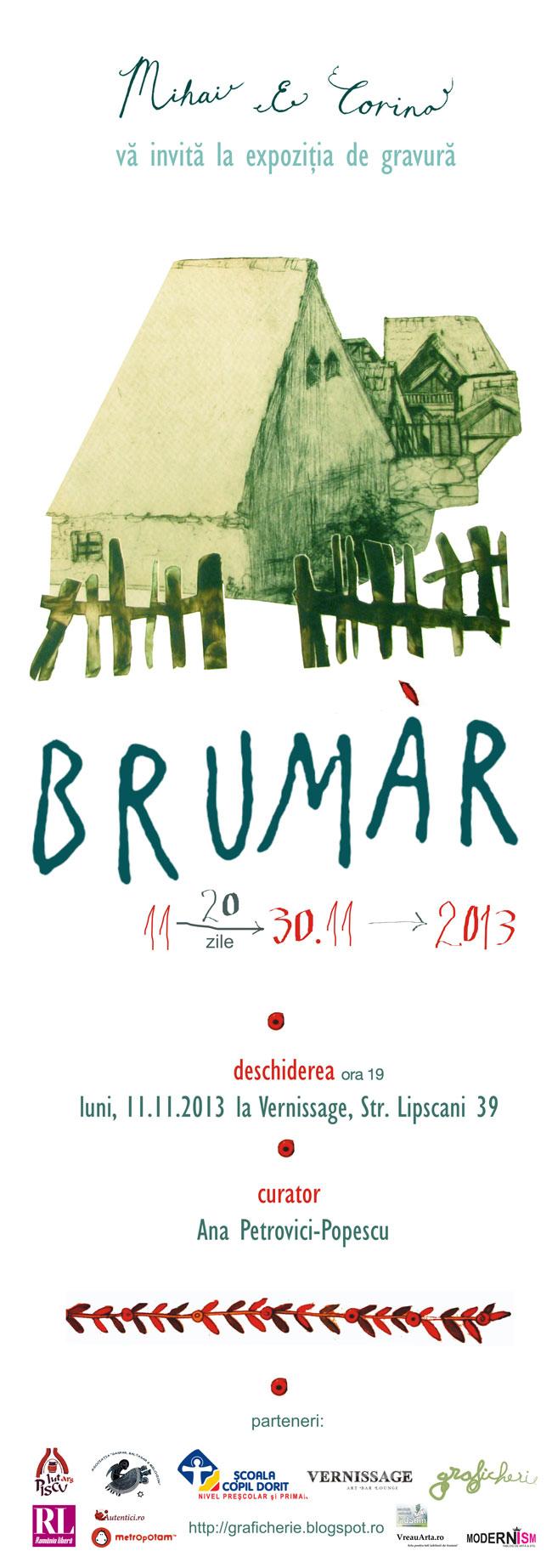 """Expoziţie de gravură """"Brumar"""" la Vernissage, București"""