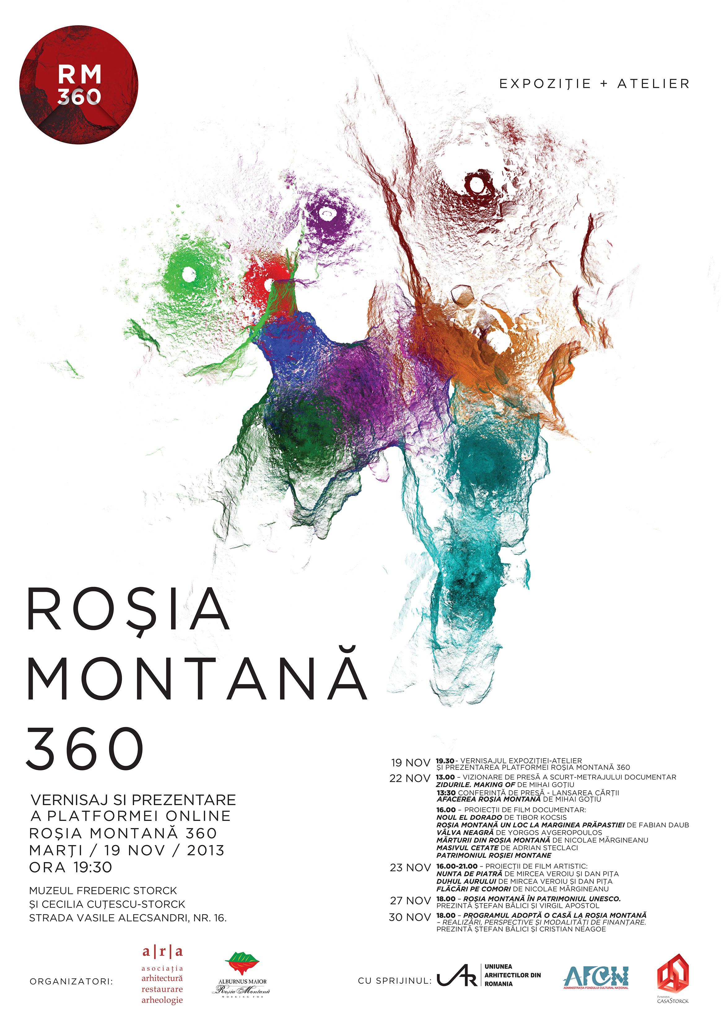 Roșia Montană 360. Expoziție – atelier pentru protejarea, monitorizarea și valorificarea patrimoniului cultural