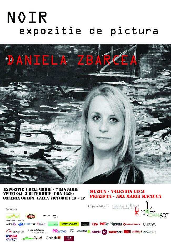 """Daniela Zbarcea """"Noir"""" @ Galeria Odeon, București"""