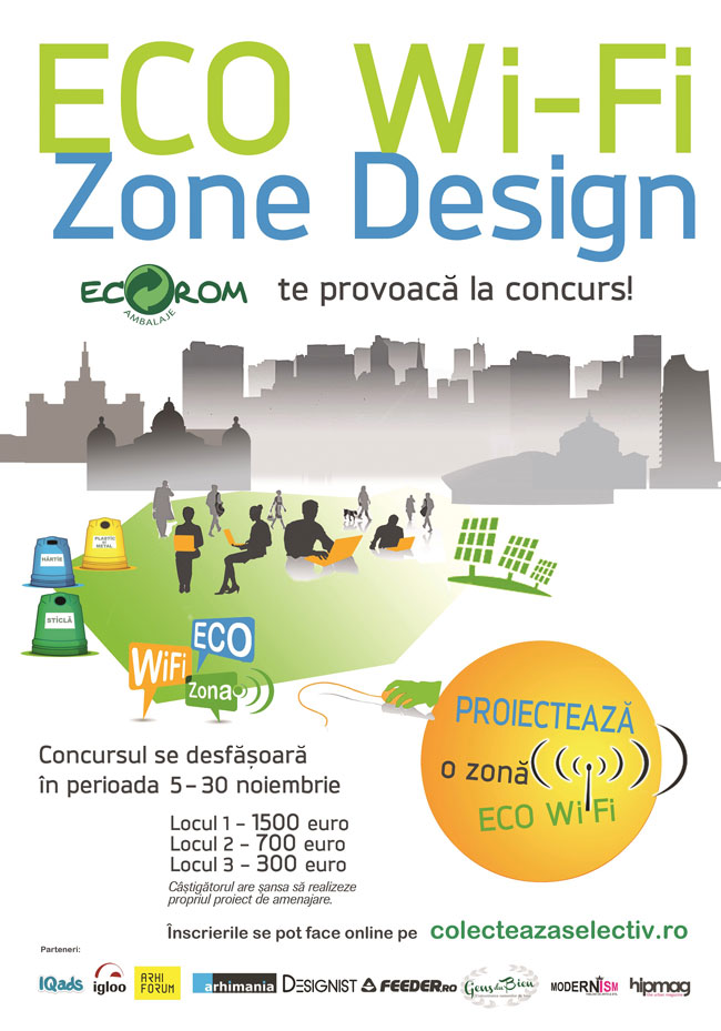 Nu rata ultima săptămână de înscrieri la concursul Eco Wi-Fi Zone Design