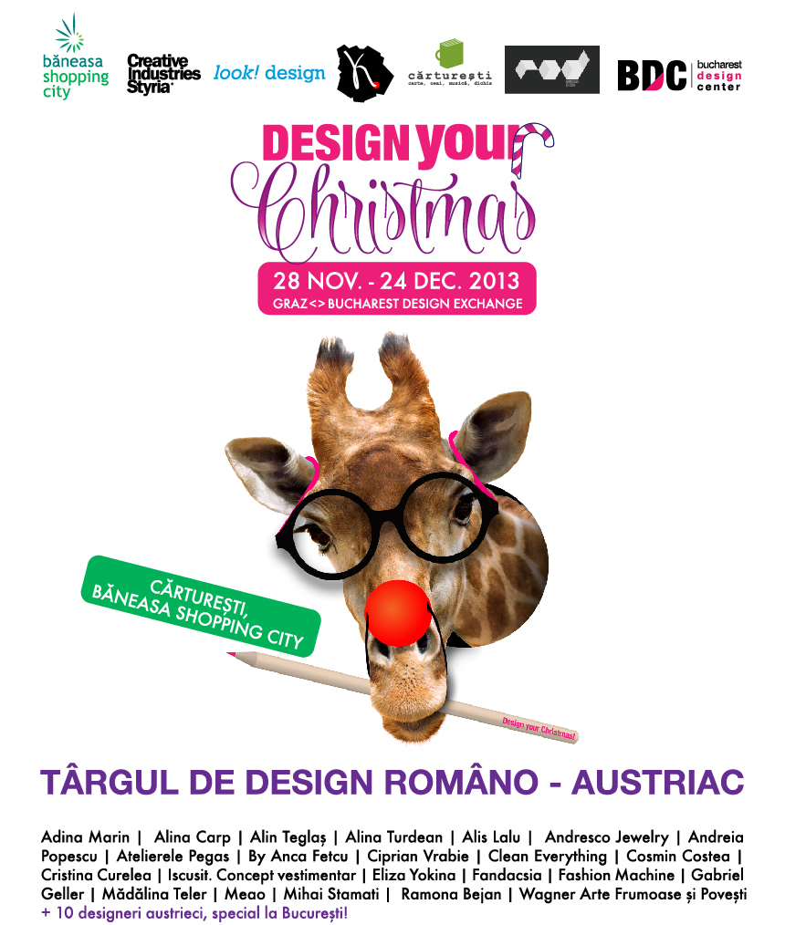 Bucharest Design Center si ROD (Romanian Design) – Carturesti prezinta Design Your Christmas