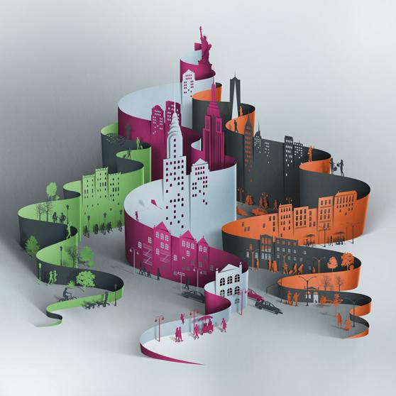 Paper Landscape by Eiko Ojala