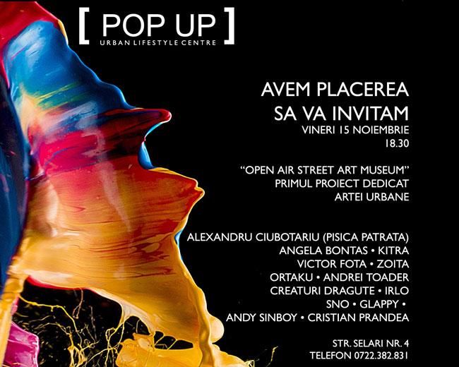 Open Air Street Art Museum din România găzduit de Centrul Pop-Up din Bucureşti