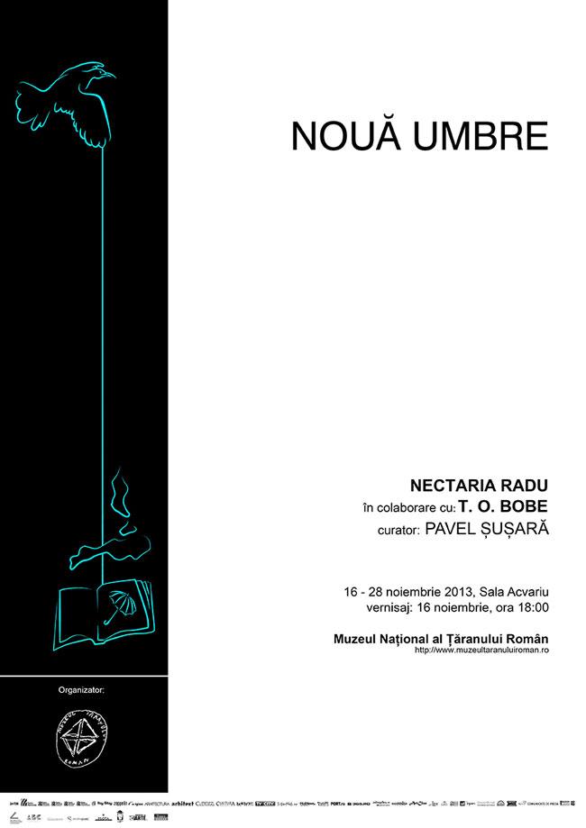 """Radu Nectaria în colaborare cu T. O. Bobe, """"Nouă umbre"""" @ Muzeul Național al Țăranului Român"""