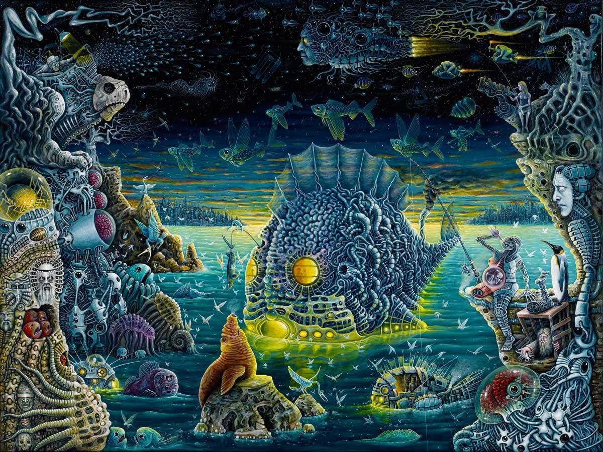 Nightmarish Fantasy Paintings by Robert Steven Connett
