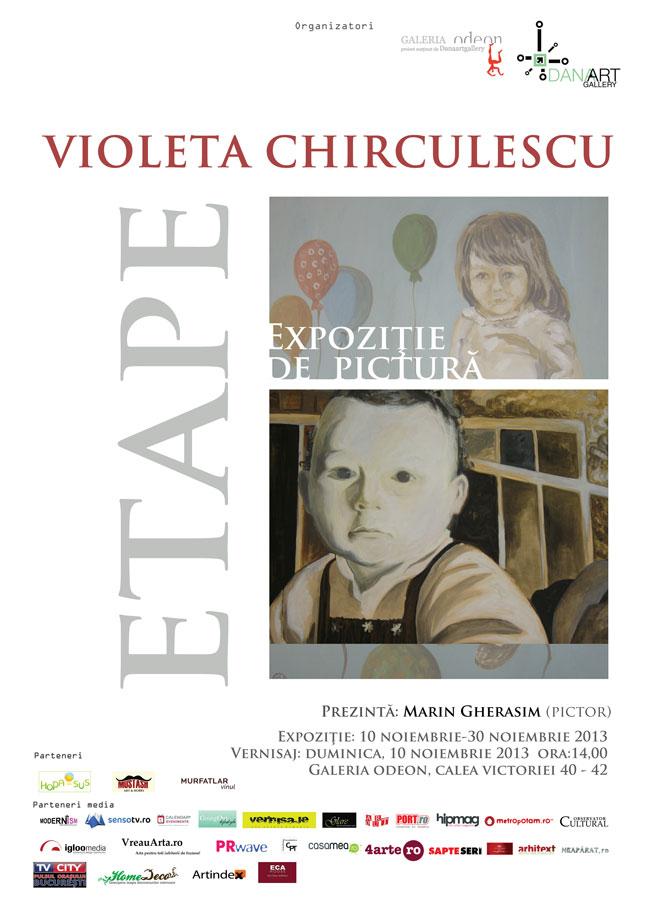 """Violeta Chirculescu, """"Etape"""" @ Teatrul Odeon București în parteneriat cu DanaArt Gallery"""