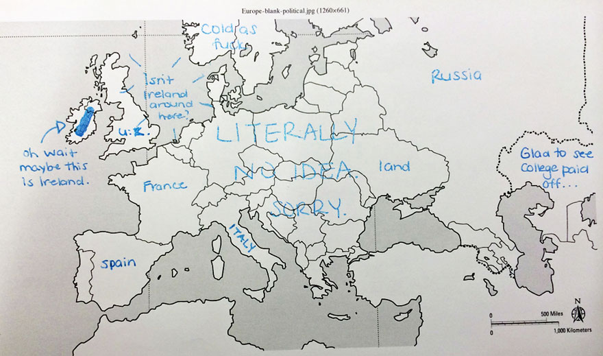 Americans Were Asked To Place European Countries On A Map