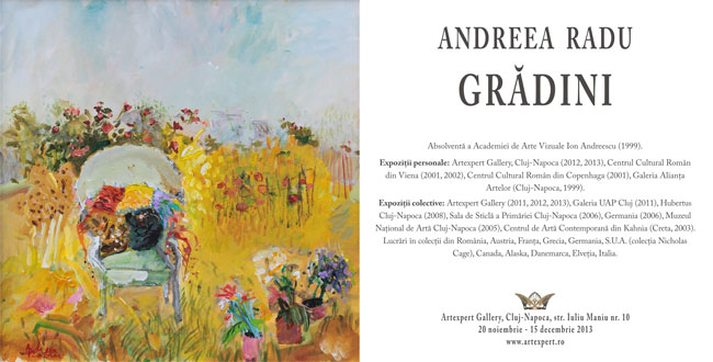 "Andreea Radu, ""Grădini"" @ Artexpert Gallery, Cluj-Napoca"