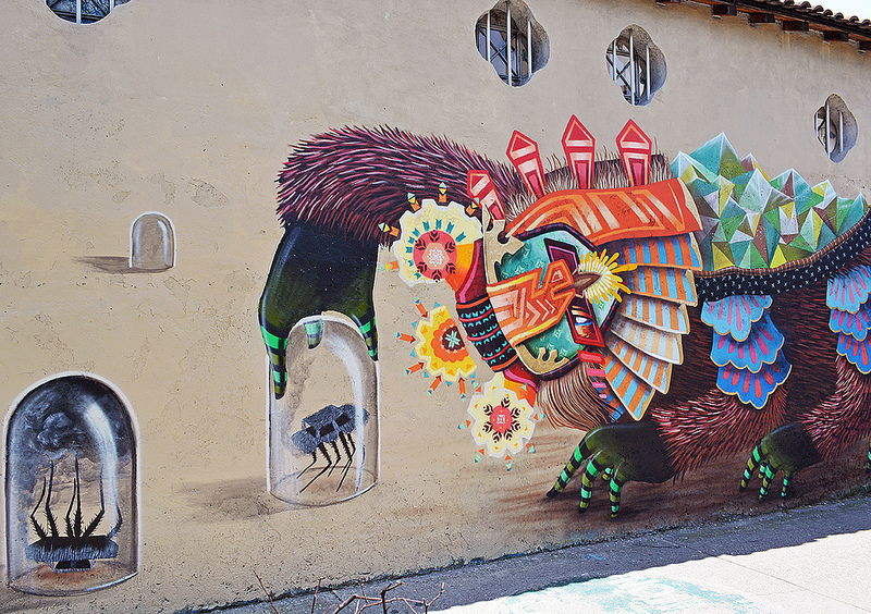 Tribal Mexican Street Art by Curiot