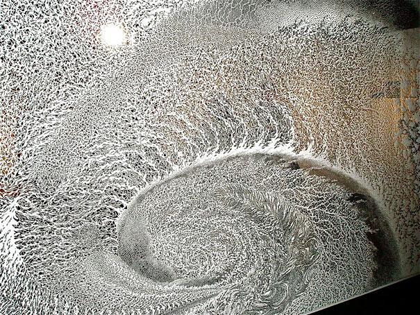 Paper Cut Tapestries by Tomoko Shioyasu