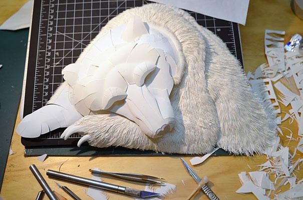 Animals Paper Sculptures by Calvin Nicholls