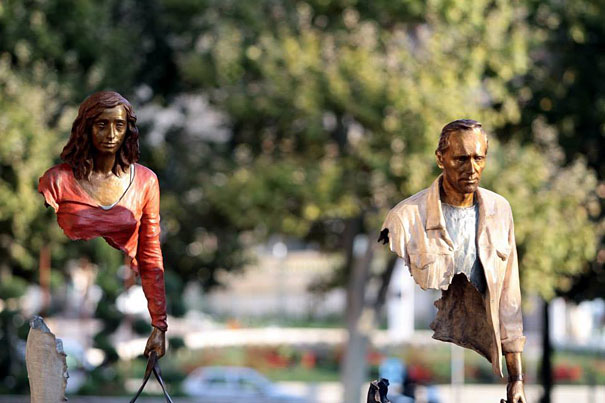 The Beautifully Imperfect Bronze Sculptures Of Bruno Catalano Are Not All There