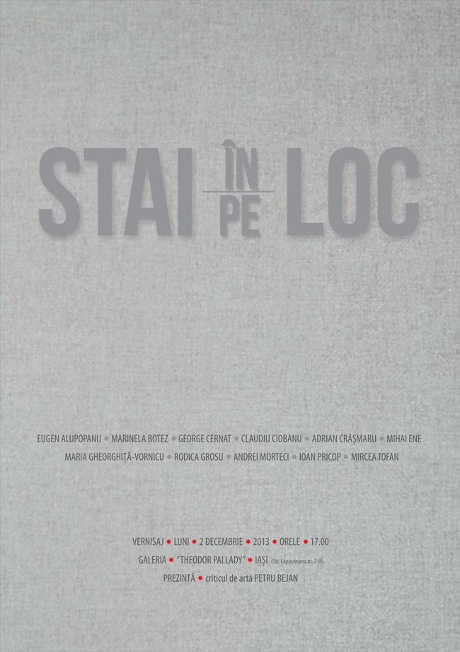 """""""STAI în/pe LOC"""" @ Galeria de Artă Theodor Pallady, Iași"""