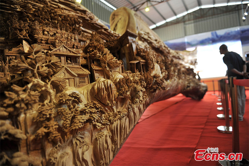The World's Longest Wooden Sculpture 12.286 meters