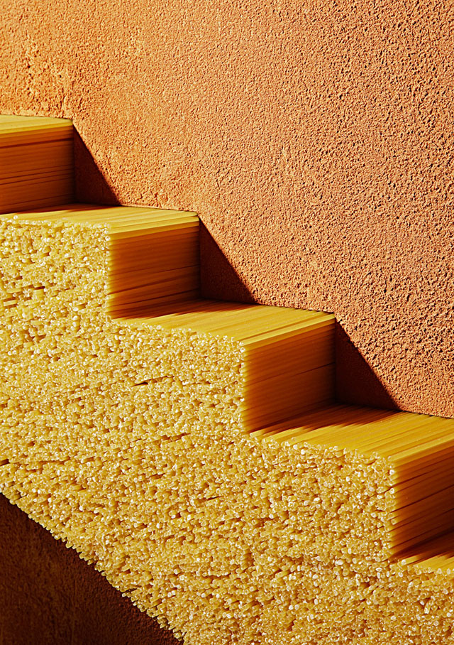 Photo Series of Pasta as an Architectural Element