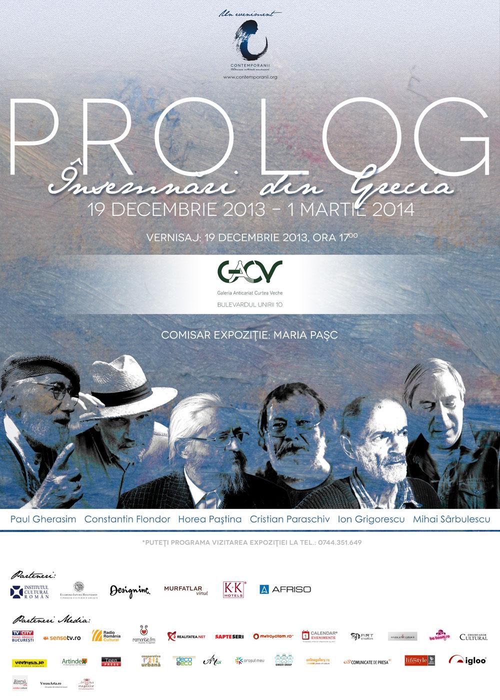 """Grupul Prolog """"Însemnări din Grecia"""" @ Galeria Anticariat Curtea Veche"""