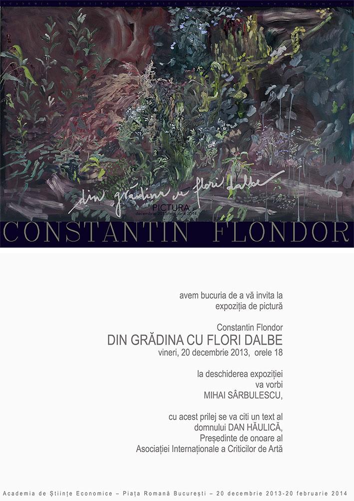 """Constantin Flondor """"Din grădina cu flori dalbe"""" @ Academia de Științe Economice din București"""