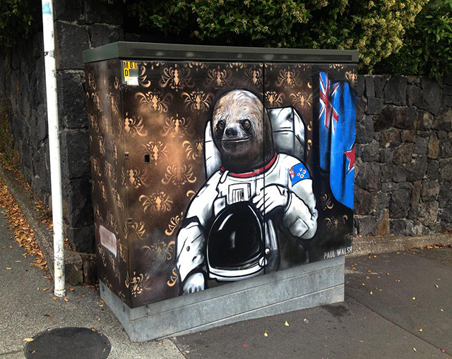 Street Artist Creates Wonderful Paintings on Telephone Utility Boxes in Auckland, New Zealand