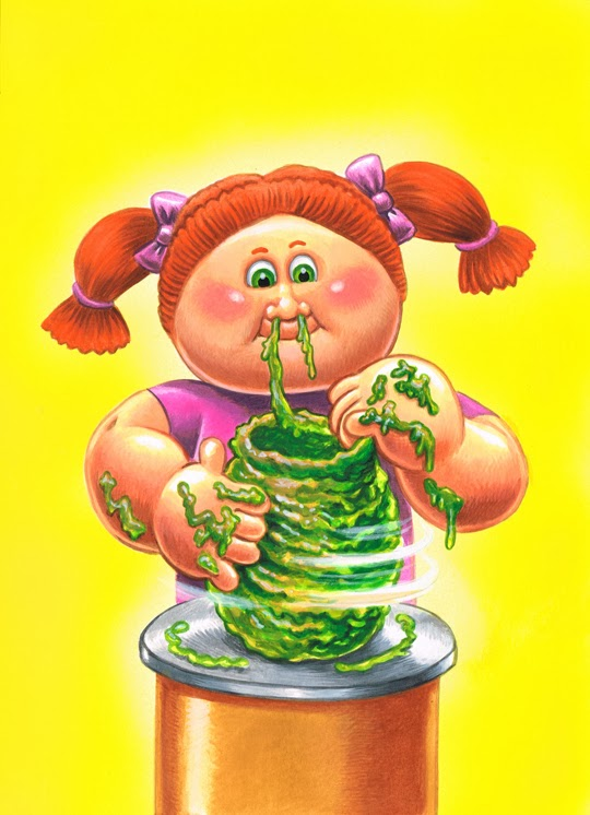 New Paintings from the Third Series of 'Garbage Pail Kids' Trading Cards