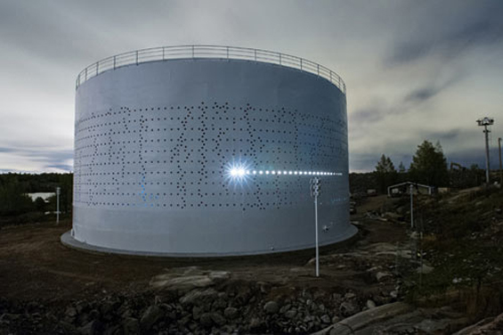 Finland's Lighting Design Collective Transforms A Silo Into A Modern Lighthouse