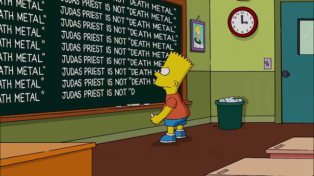 The Simpsons Apologize for Labeling Judas Priest as a 'Death Metal' Band