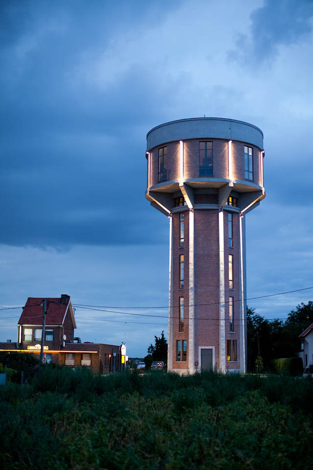 Old Belgian Water Tower Converted Into a Single Family Home