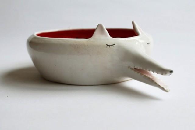 Delightful Handmade Ceramic Dishware Shaped Like Slumbering Animals