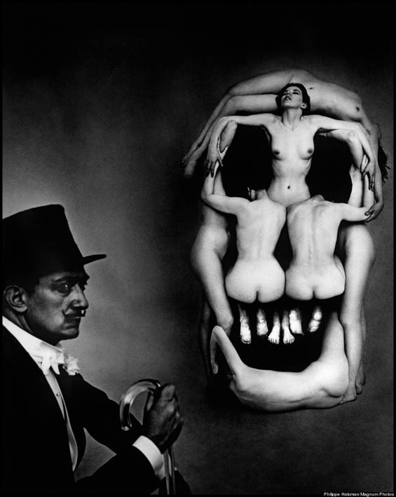 "Behind the Scenes Look At Salvador Dali's Bizarre Photograph ""Voluptuous Death"""