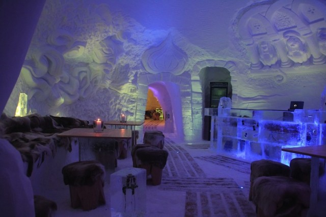 IgluLodge, An Igloo Hotel Decorated with Ice Sculptures in the German Alps
