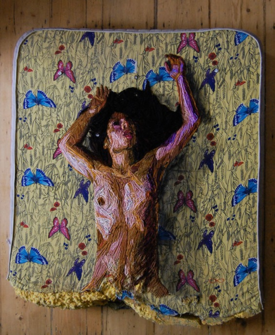 Human Figures Embroidered Onto Mattresses
